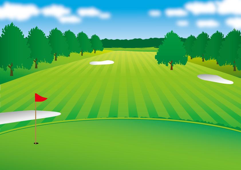広々したゴルフ場