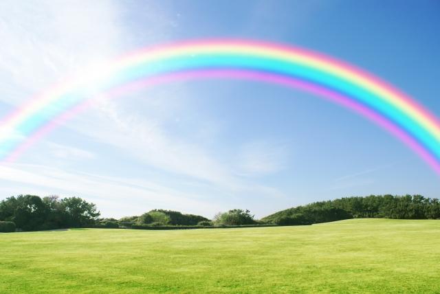 虹のかかるゴルフ場