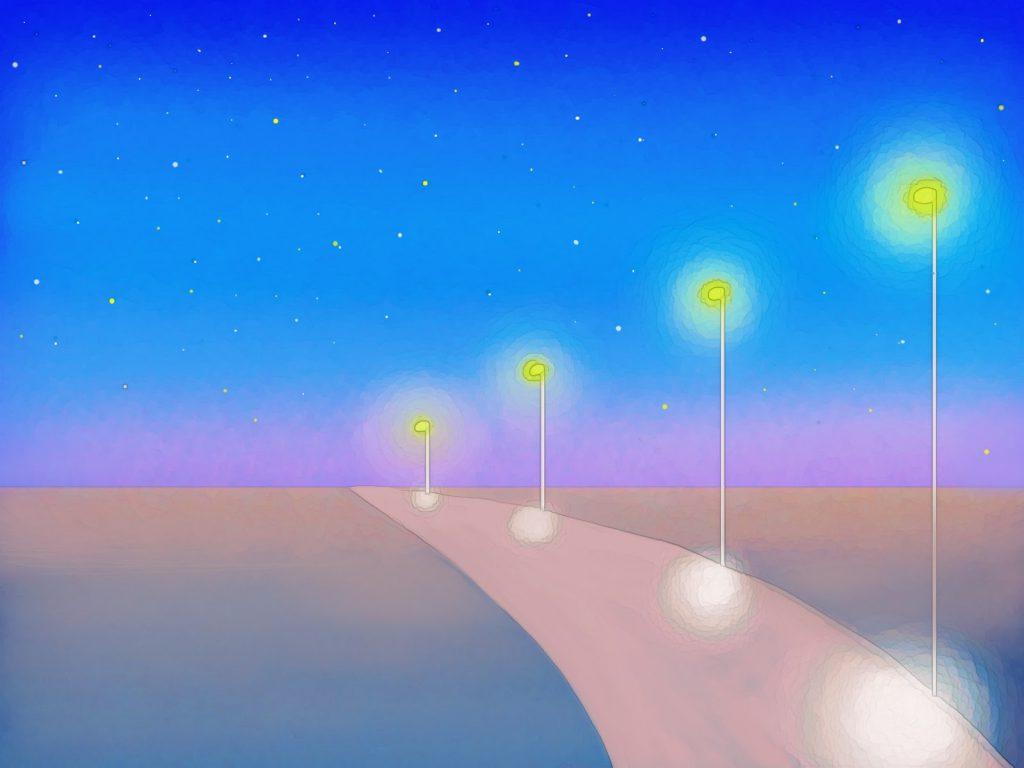 星空のきれいな夜の高速道路